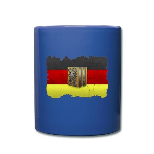 Dresden Wappen mit Deutschland Fahne in Stein gemeißelt Tasse - Tasse einfarbig