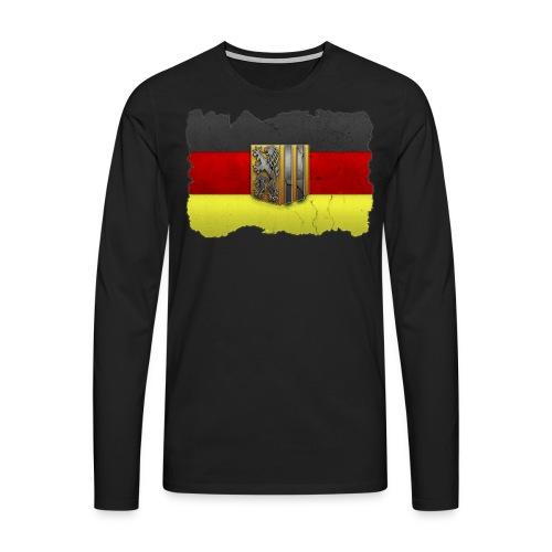 Dresden Wappen mit Deutschland Fahne in Stein gemeißelt Langarmshirt - Männer Premium Langarmshirt