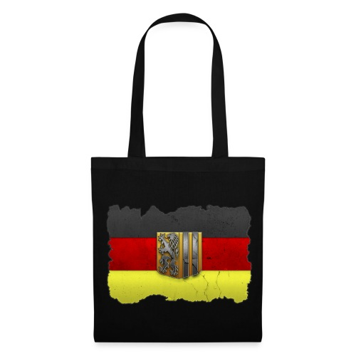 Dresden Wappen in Stein gemeißelt auf Deutschlandfahne Stoffbeutel - Stoffbeutel