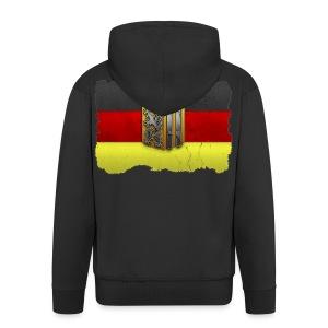 Dresden Wappen mit Deutschland Fahne in Stein gemeißelt Kapuzenjacke - Männer Premium Kapuzenjacke