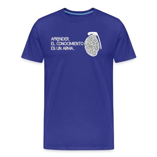 El conocimiento es un arma - Camiseta premium hombre