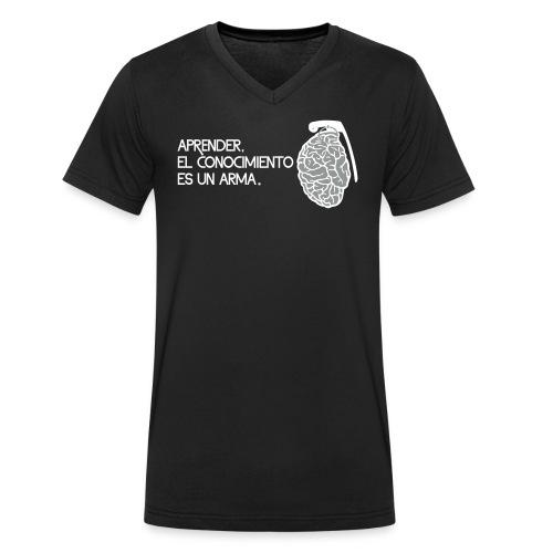 El conocimiento es un arma - Camiseta ecológica hombre con cuello de pico de Stanley & Stella