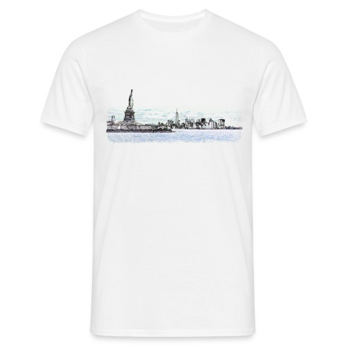 NYC Skyline gimped - Men's T-Shirt