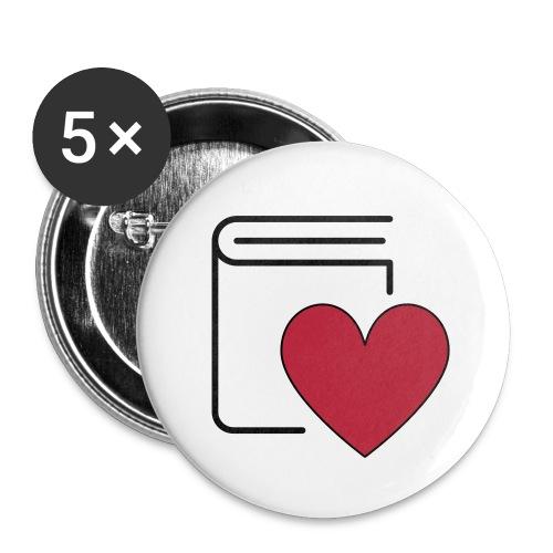 Book Love - Buttons klein 25 mm - Buttons klein 25 mm