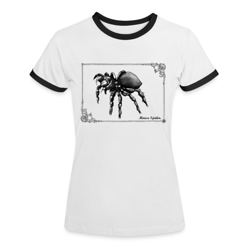 Encyclopedia tee - Mouse Spider  - Women's Ringer T-Shirt