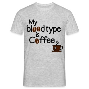 Blutgruppe Kaffee - Männer T-Shirt