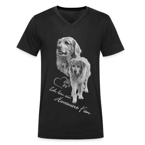 Hovawart s-w - Männer Bio-T-Shirt mit V-Ausschnitt von Stanley & Stella