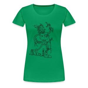 Robot Battles Punks - Women's Premium T-Shirt