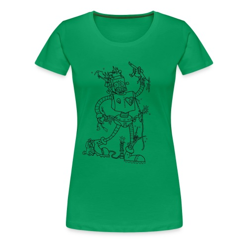 Robot Battles Punks - Women's Premium T-Shirt