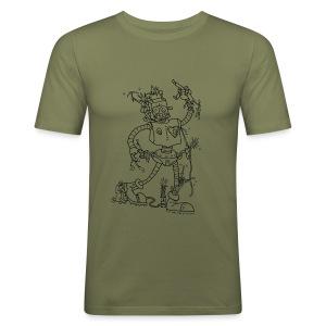 Robot Battles Punks - Men's Slim Fit T-Shirt