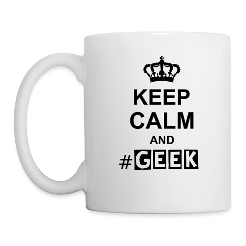Mug - Blanc - KEEP CALM AND #GEEK  - Mug blanc
