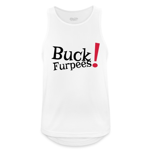 Buck Furpees #1 - Motiv vorne, Schwarz / Rot - Männer Tank Top atmungsaktiv