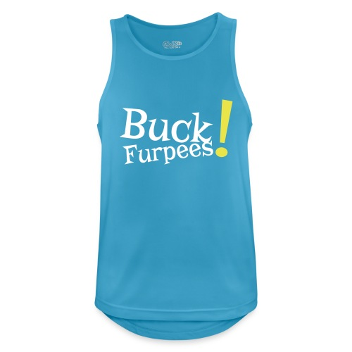 Buck Furpees #1 - Motiv vorne, Weiss  / Gelb - Männer Tank Top atmungsaktiv