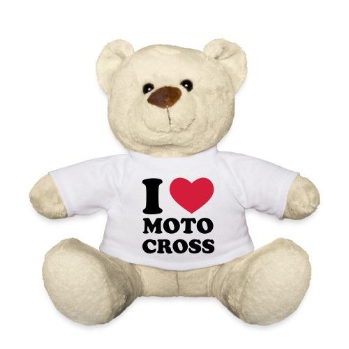 peluche I LOVE Motocross - Nounours