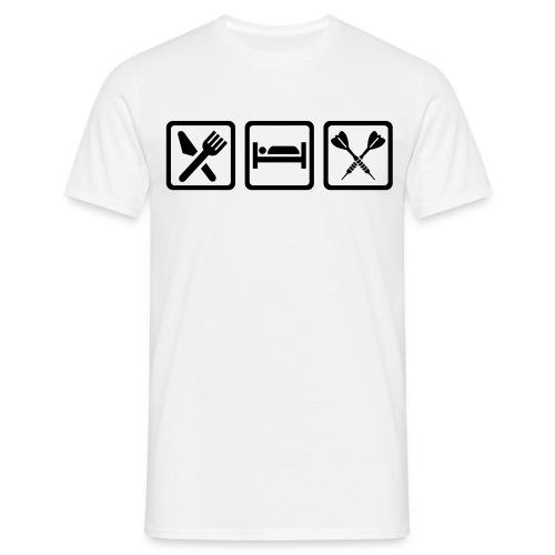 Eat, Sleep, DART - Männer T-Shirt