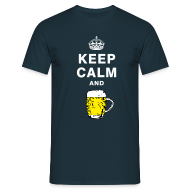 T-Shirts ~ Men's T-Shirt ~ Keep calm and drink beer T-shirt