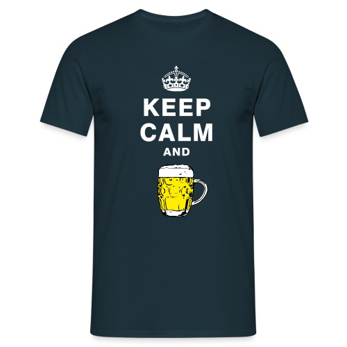 Keep calm and drink beer T-shirt - Men's T-Shirt