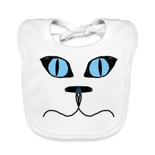 Cat man illuminati nose bib - Baby Organic Bib