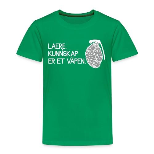lære, kunnskap er et våpen - Premium T-skjorte for barn