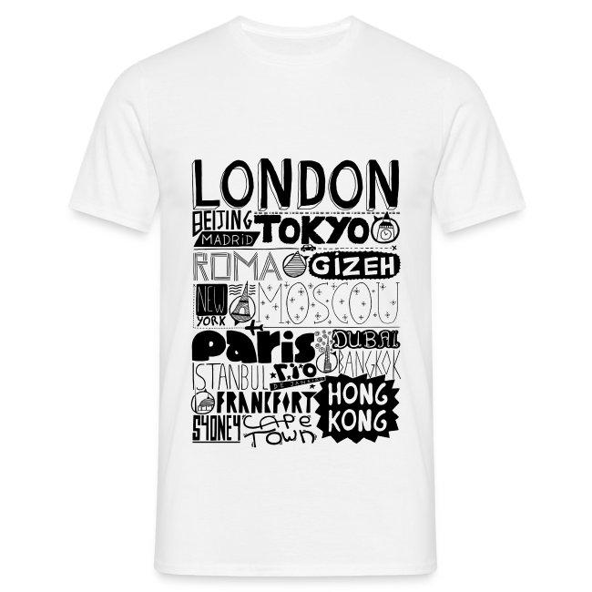T-shirt Villes du monde - Homme