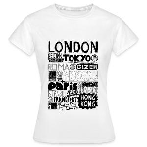 T-shirt Villes du monde - Femme - T-shirt Femme