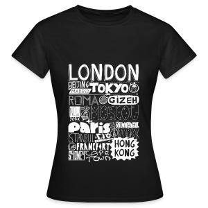 T-Shirt Villes du monde - Femme (noir) - T-shirt Femme
