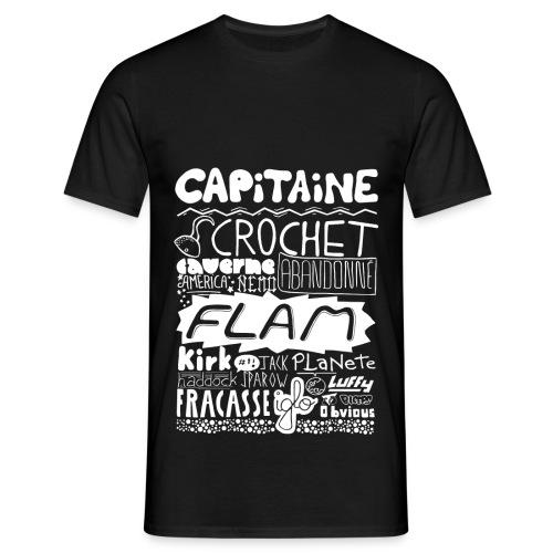 T-shirt Capitaine Homme (noir) - T-shirt Homme
