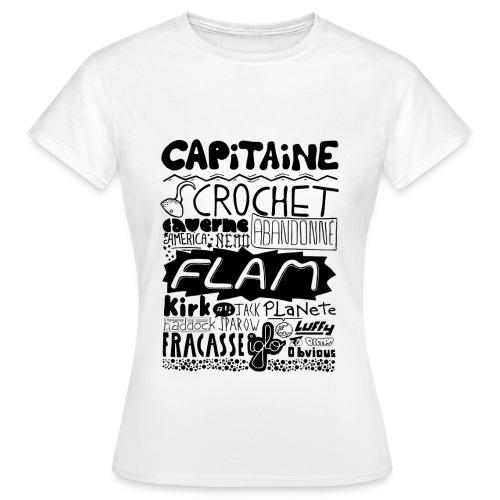 T-shirt Capitaine Femme - T-shirt Femme