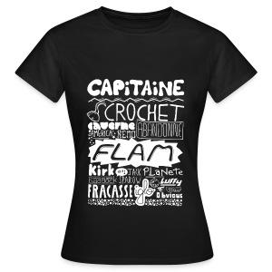 T-shirt Capitaine Femme (noir) - T-shirt Femme
