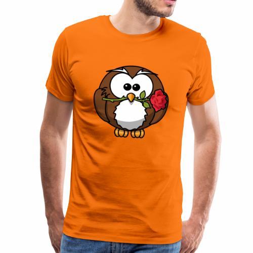 Valentinstag Shirt mit Eule - Männer Premium T-Shirt