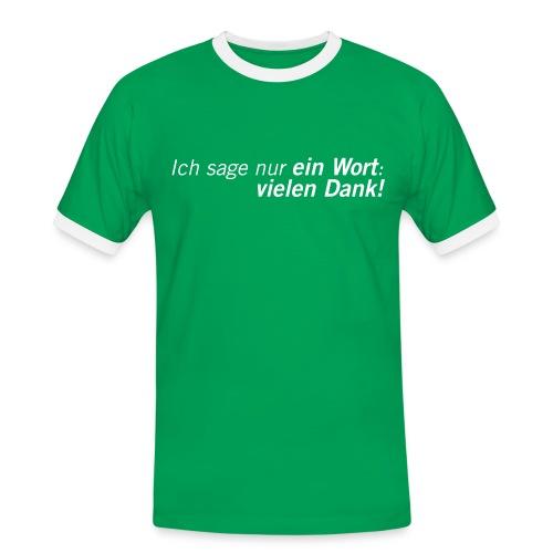 Fussball Fan Shirt - Andy Brehme - Danke! - Männer Kontrast-T-Shirt