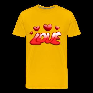 Liebe und Herzen - Männer Premium T-Shirt