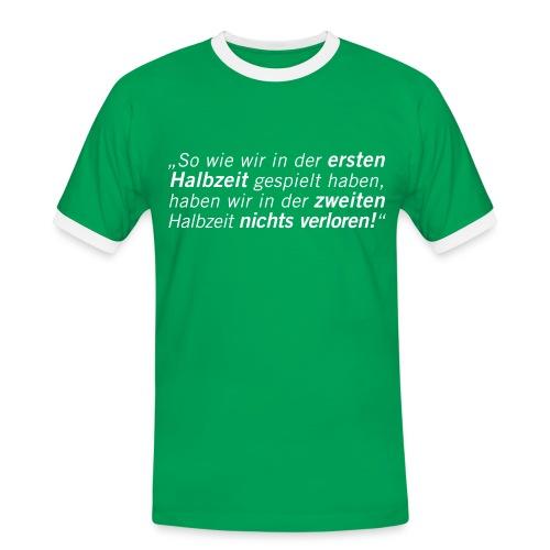 Fussball Fan Shirt - Andy Brehme - Halbzeit! - Männer Kontrast-T-Shirt