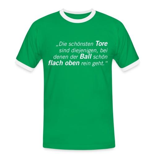 Fussball Fan Shirt - Mehmet Scholl - flach oben rein! - Männer Kontrast-T-Shirt