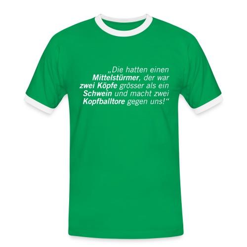Fussball Fan Shirt - Hans Meyer - Schweine Kopfball! - Männer Kontrast-T-Shirt