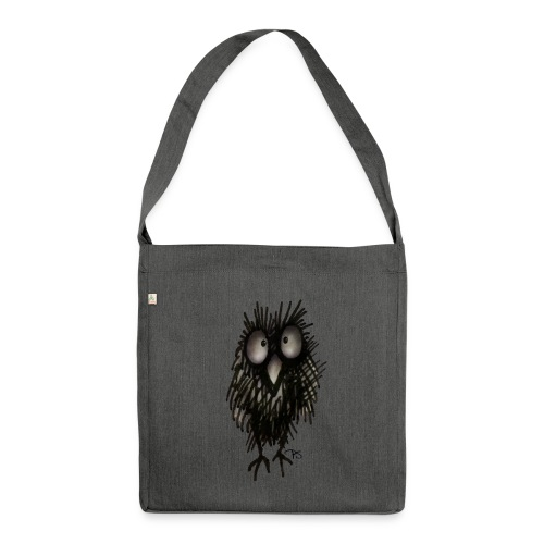Funny Sleepy Stoned Owl - Shoulder Bag made from recycled material