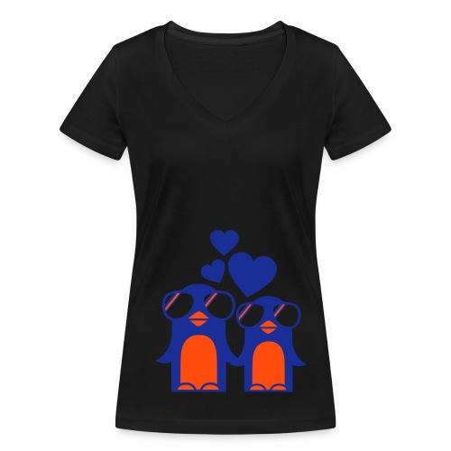 Pinguin - Frauen Bio-T-Shirt mit V-Ausschnitt von Stanley & Stella