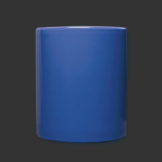 Tasse bleue podradio - Gauche