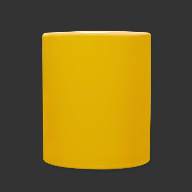 Tasse jaune Experience - Gauche
