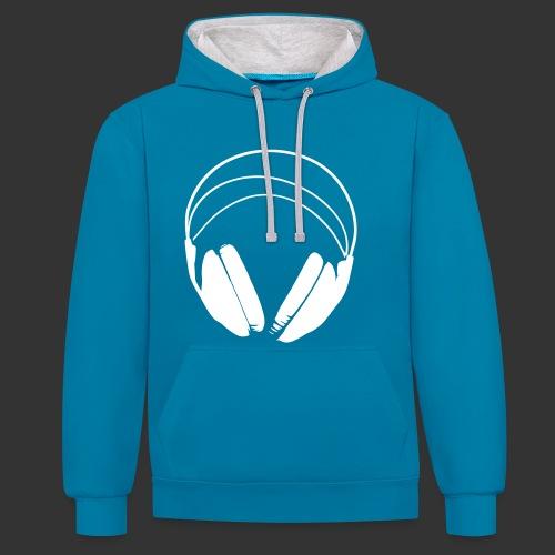 Hoodie logo podradio - Unisexe - Sweat-shirt contraste