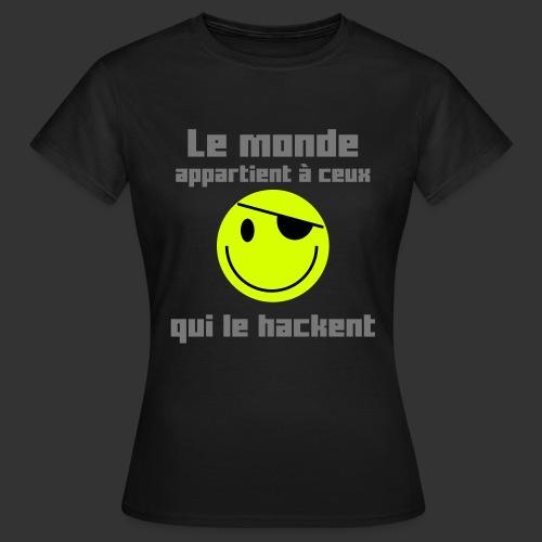 Le monde appartient aux hackeurs - femme - T-shirt Femme