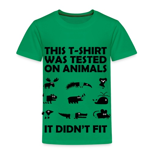 Tested on animals shirt - Kids' Premium T-Shirt