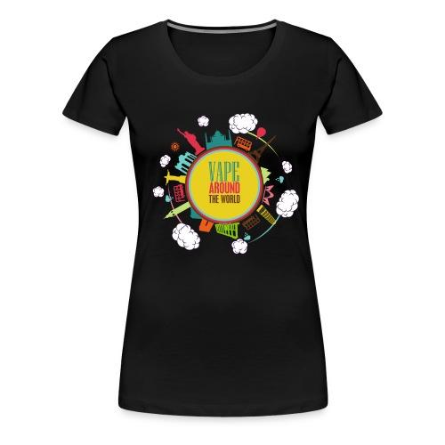 T-Shirt Vape around the world Femme  - T-shirt Premium Femme