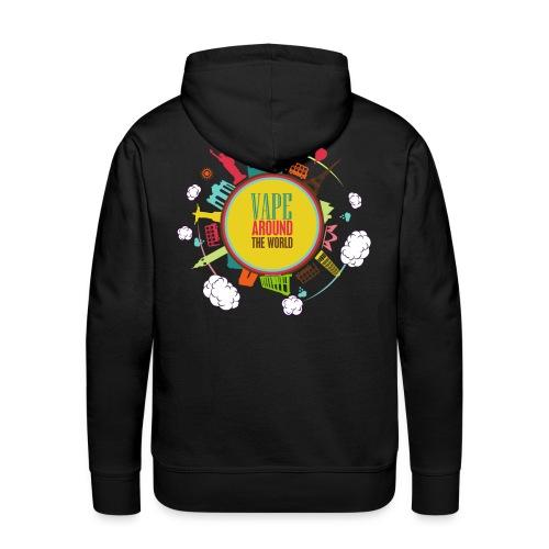 Sweat-Shirt Vape around the world Homme - Sweat-shirt à capuche Premium pour hommes