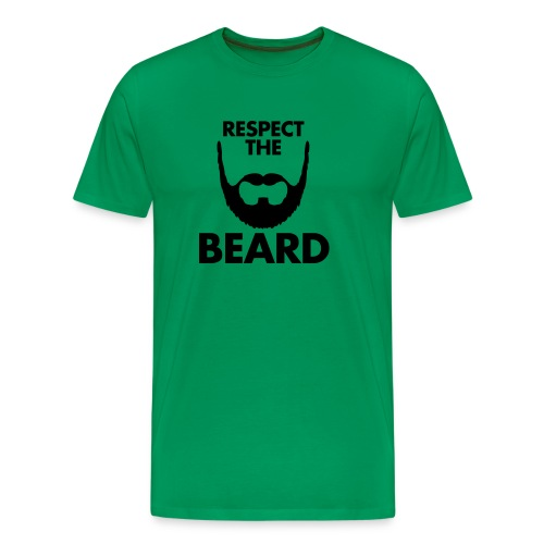 Respect Beard Tshirt - Men's Premium T-Shirt