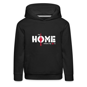 my home is where my heart is - Kinder Premium Hoodie