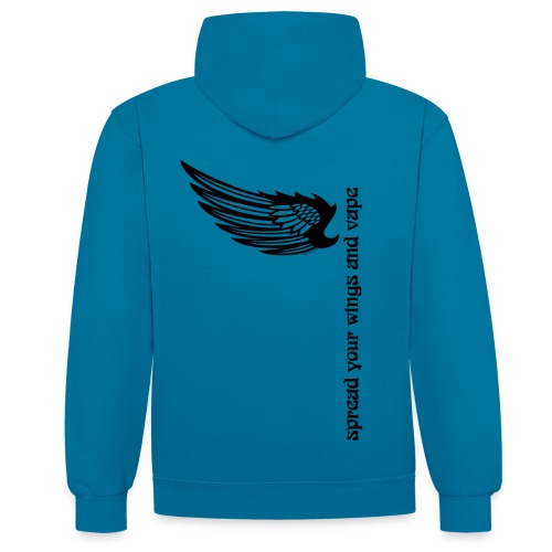 Sweat-shirt à capuche Spread your wings and vape Homme - Sweat-shirt contraste