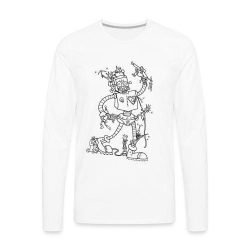 Robot Battle Punks - Men's Premium Longsleeve Shirt