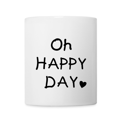 Kaffeebecher Oh Happy Day in schwarz - Tasse