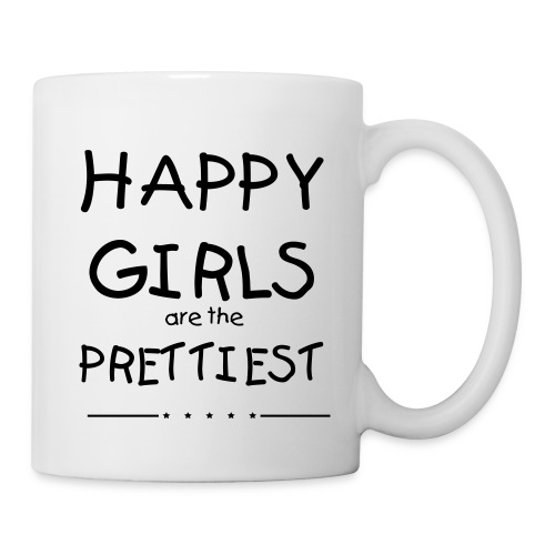 Kaffeebecher Happy Girls in schwarz - Tasse